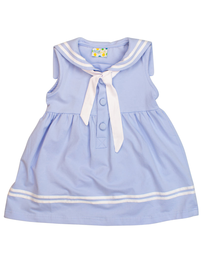 Girls Knit Sailor Dress
