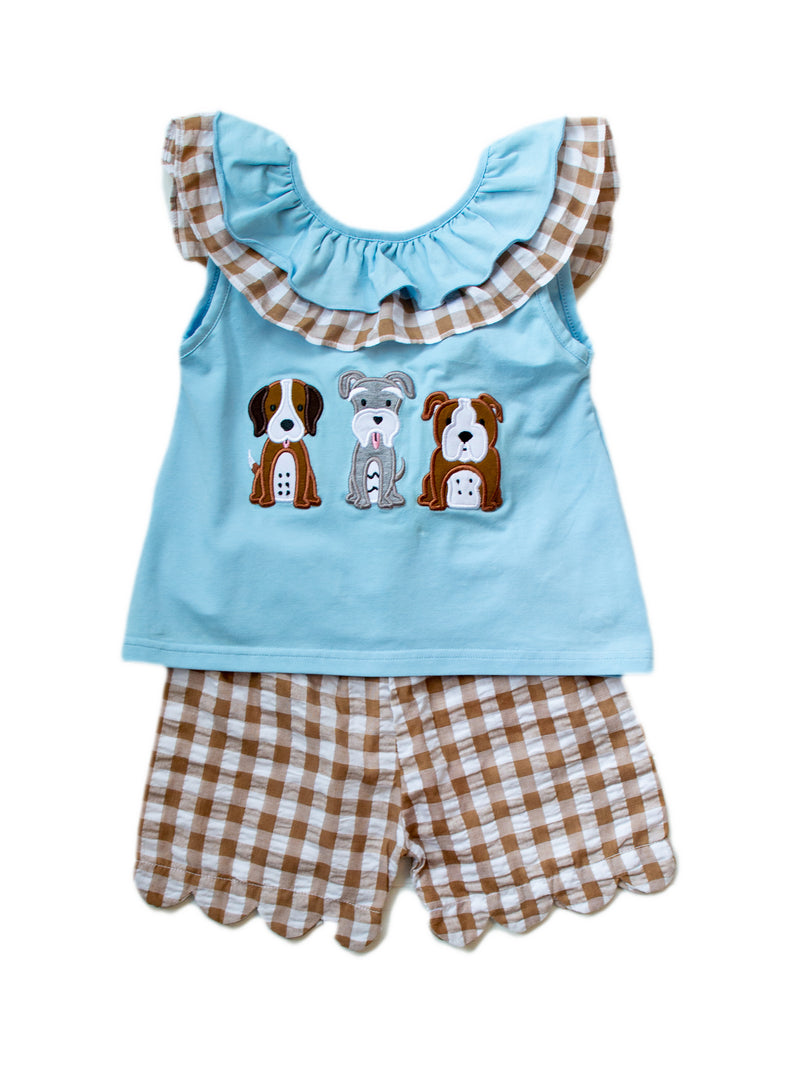 Girls Dog Short Set