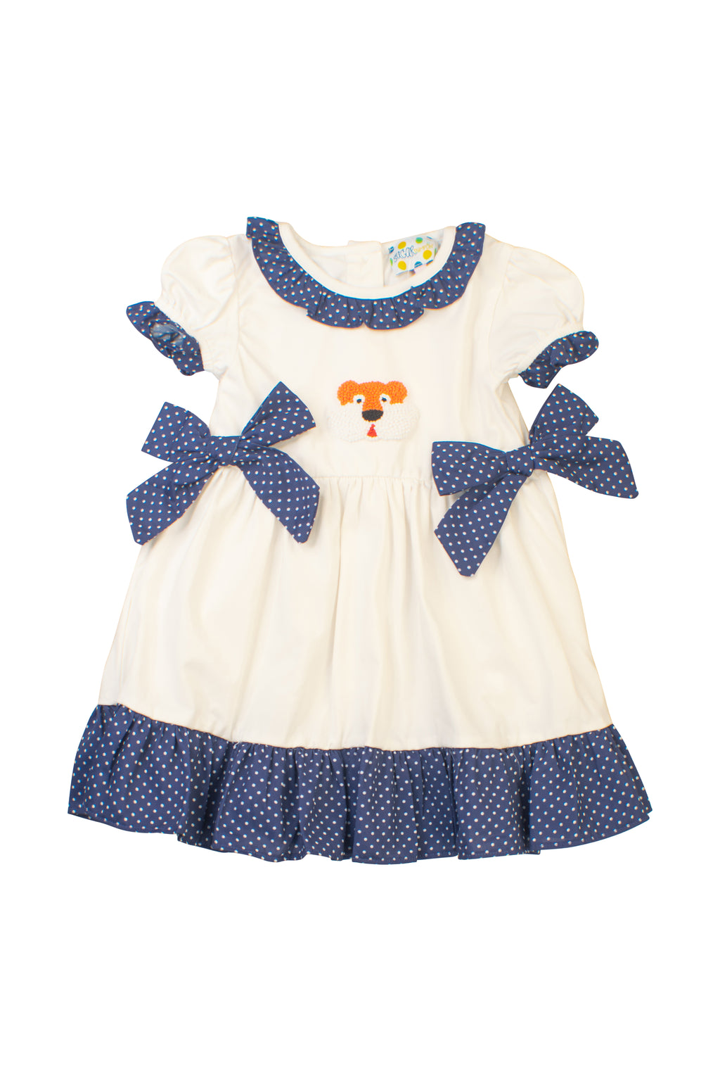 Girls French Knot Tiger Dress