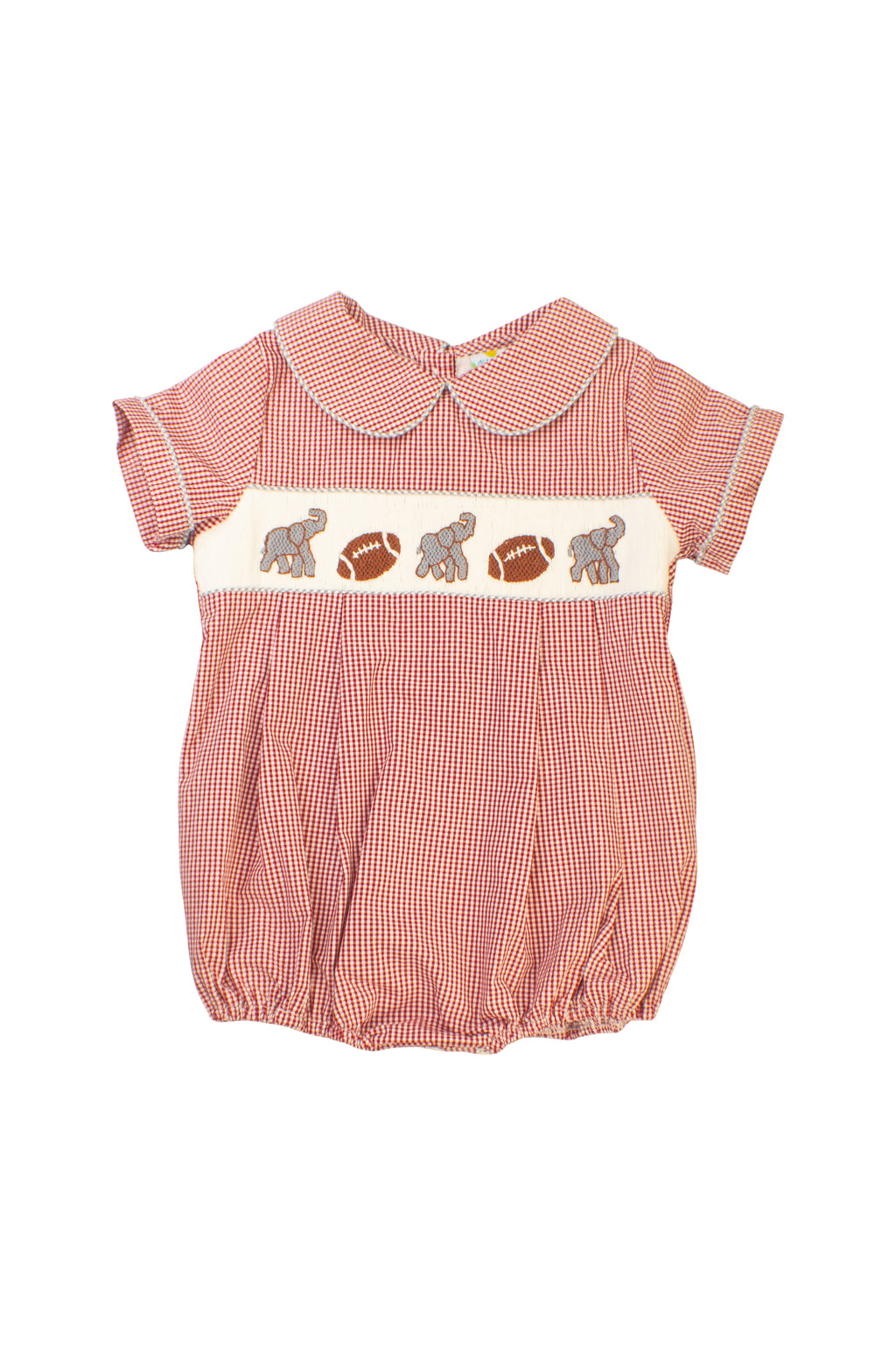 Boys Smocked Elephant Bubble