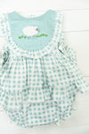 Girls French Knot Lamb Diaper Set