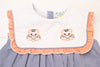 Girls Shadow Orange Tiger Initial Shorts Set