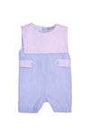 Boys Blue Linen Bib Shortall
