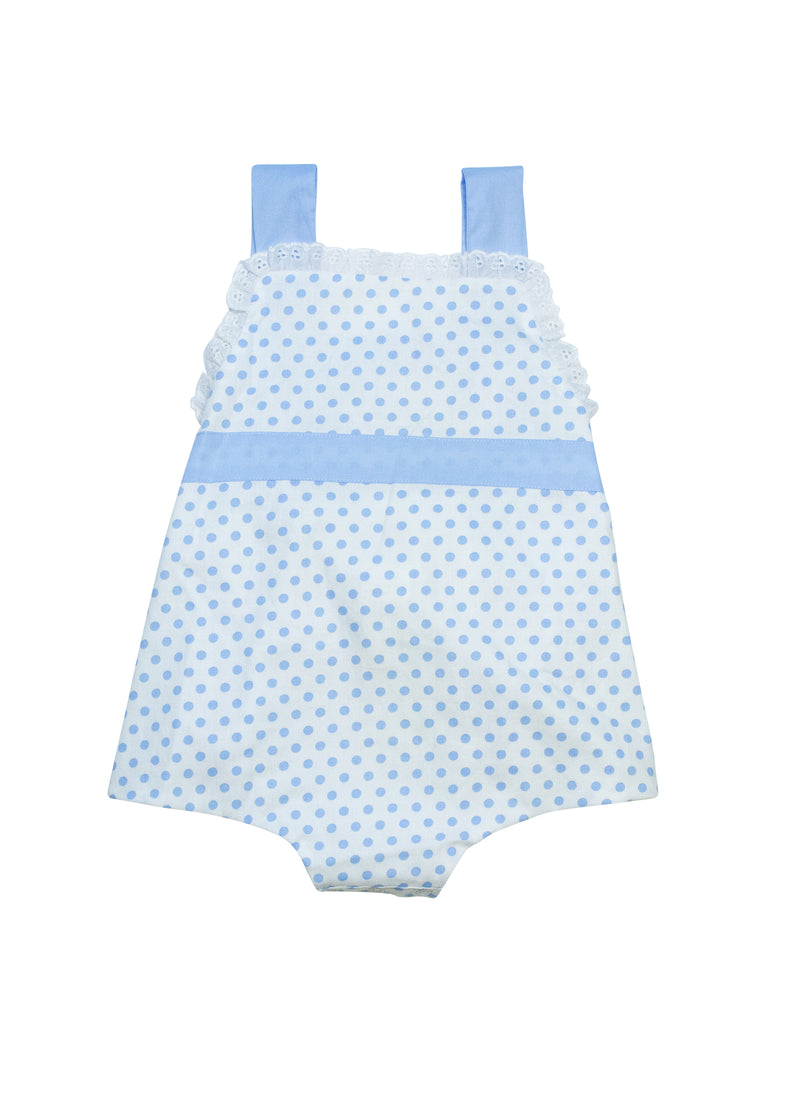 Girls Blue Polka Dot Bubble
