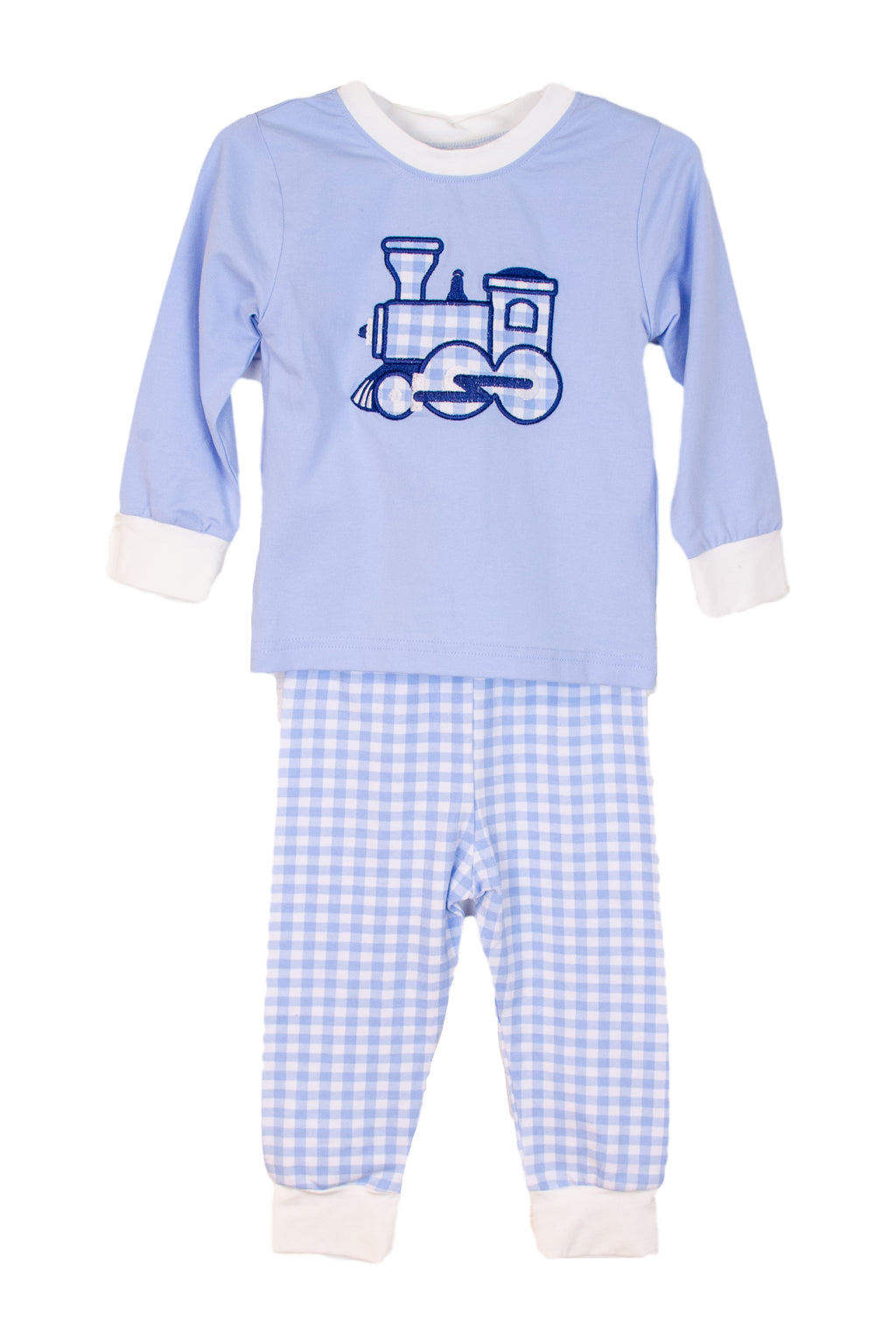Boys Knit Train Pajamas