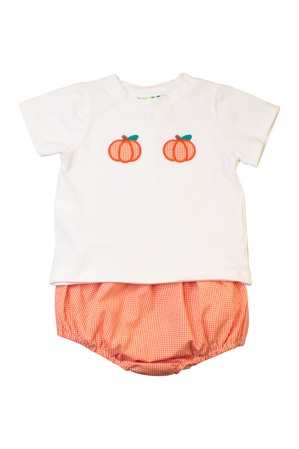 Boys Pumpkin Applique Diaper Set