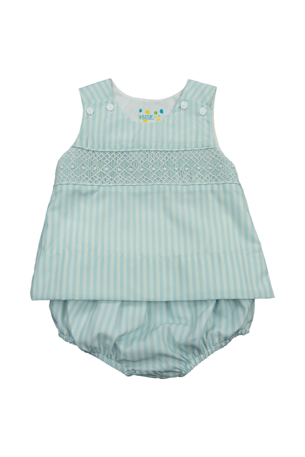 Boys Springtime Geometric Smock Diaper Set