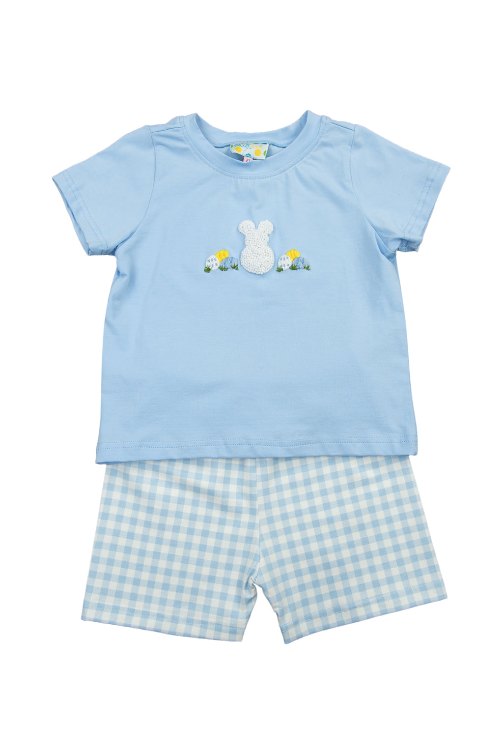 Boys French Knot Bunny/Egg Shorts Set