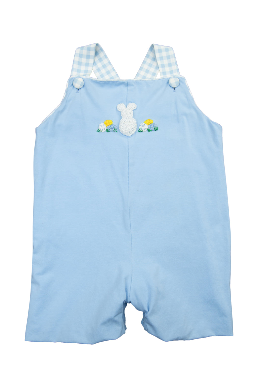 Boys French Knot Bunny/Egg Overall
