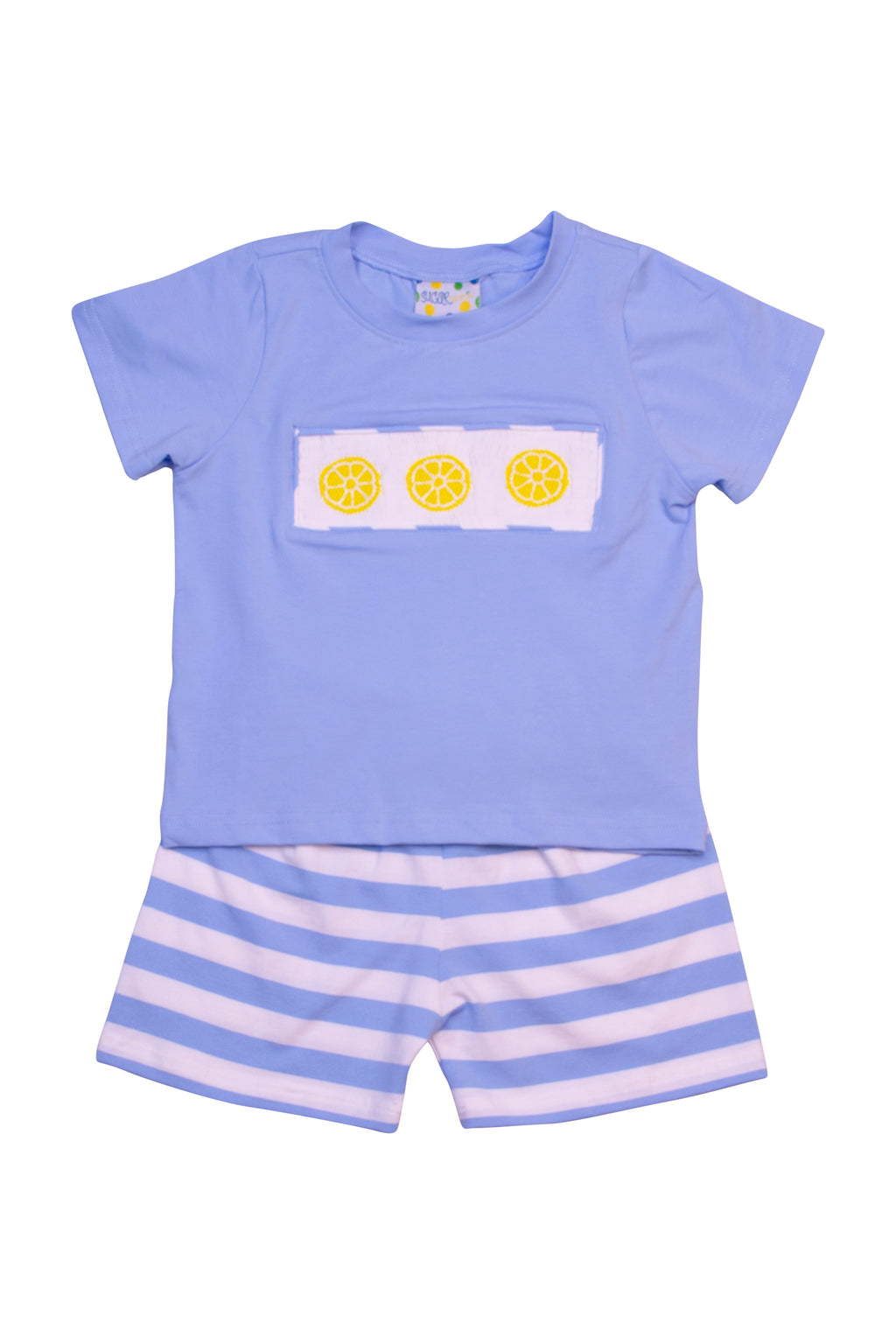 Boys Smocked Lemon Shorts Set