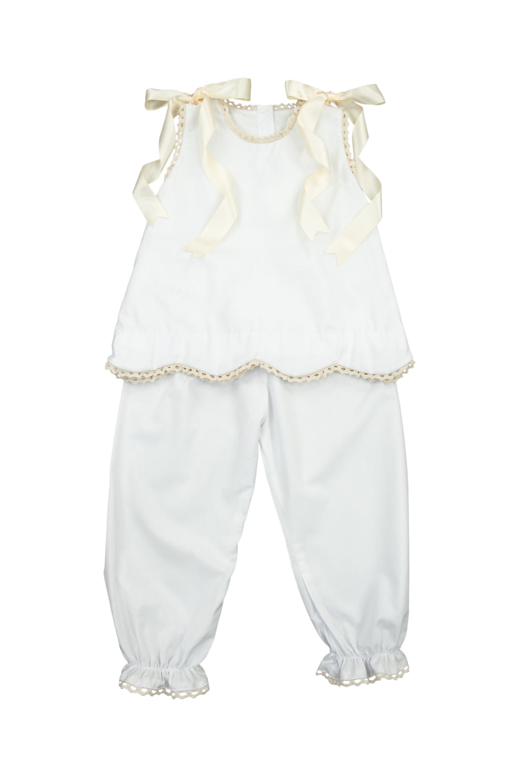 Girls White Heirloom Pantaloon Set