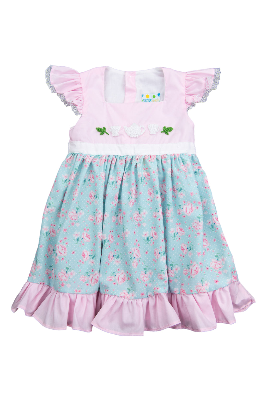 Girls French Knot Tea Party Dress