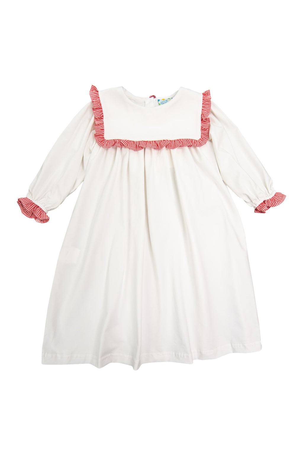 Girls White Square Collar Heirloom Length Nightgown