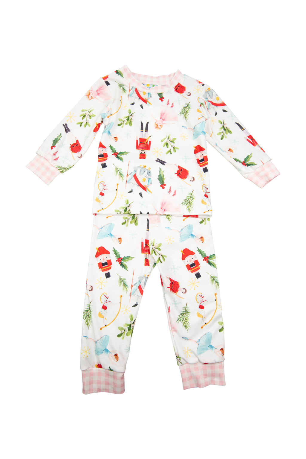 Girls Nutcracker Pajama Pants Set