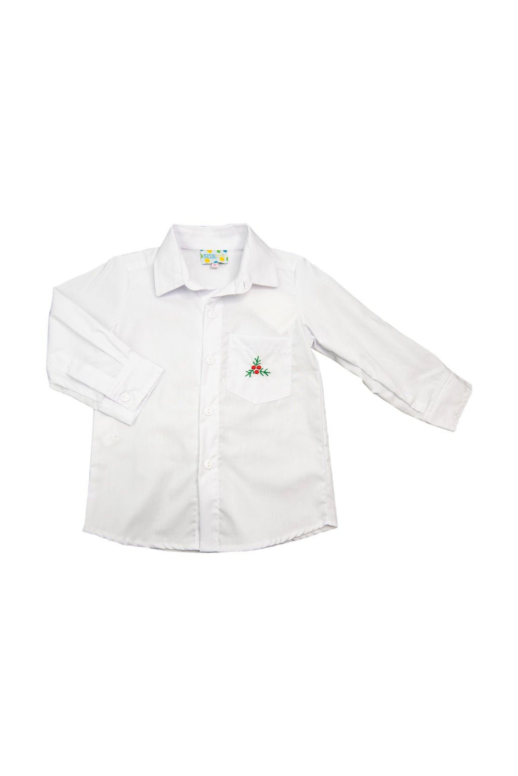 Boys White Holly Shirt Only