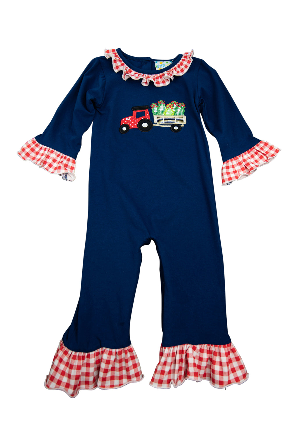 Girls Tree Farm Romper