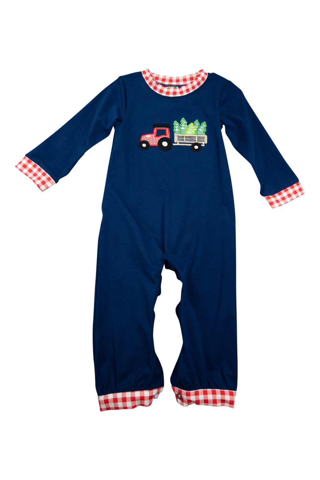 Boys Tree Farm Romper