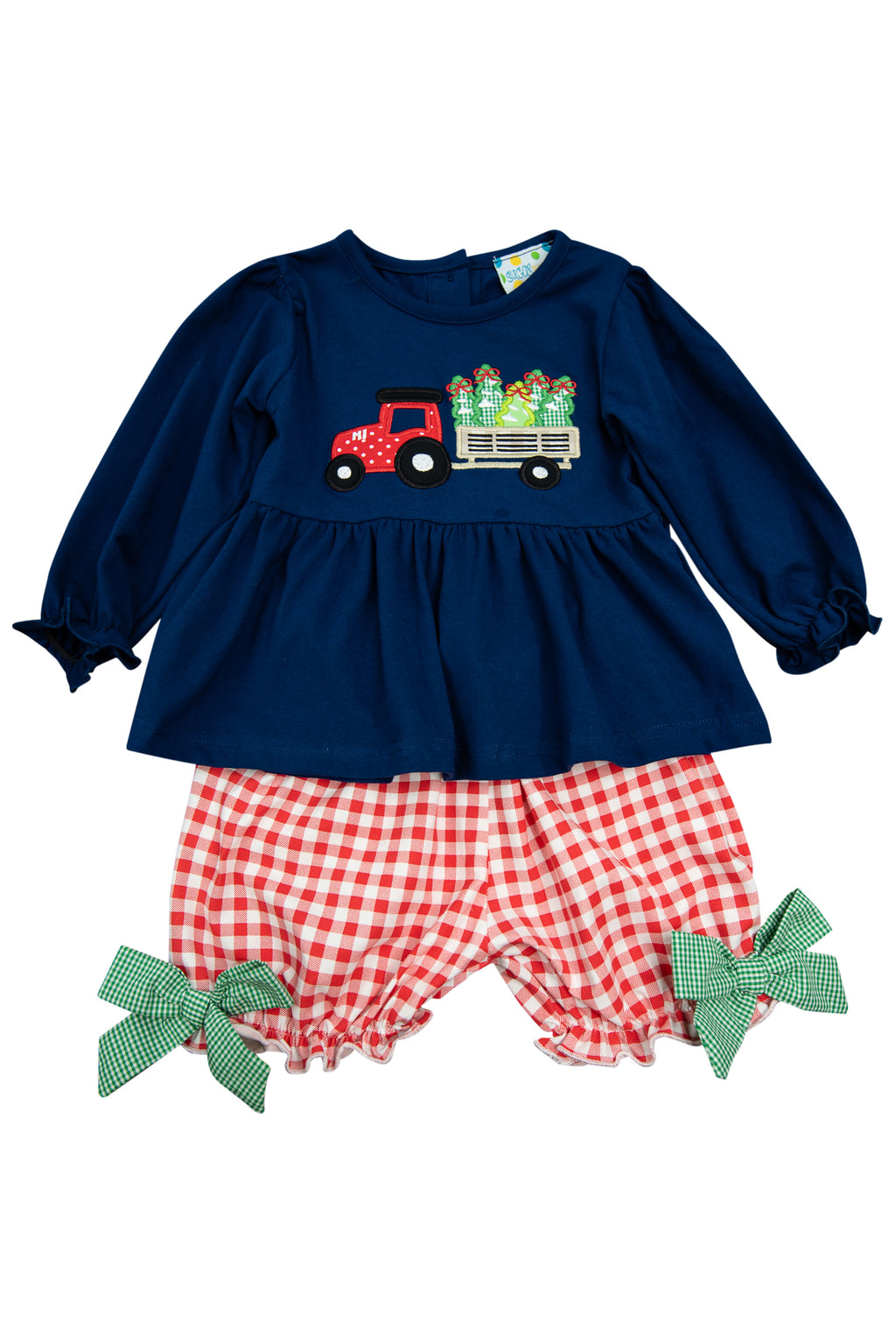 Girls Tree Farm Bloomer Shorts Set