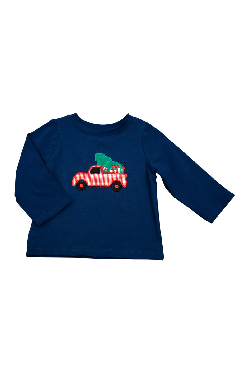 Boys Knit Christmas Tree/Truck Shirt Only