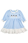 Girls French Knot Snowmen Dress