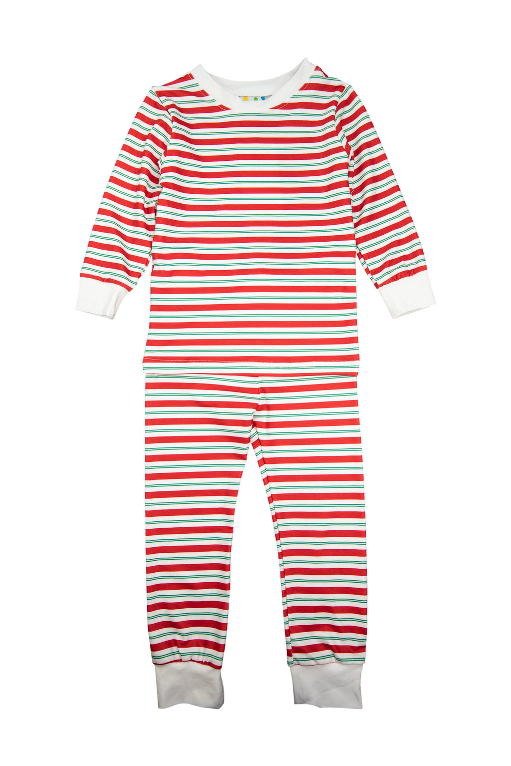Boys Red/Green Stripe Pajama Pant Set