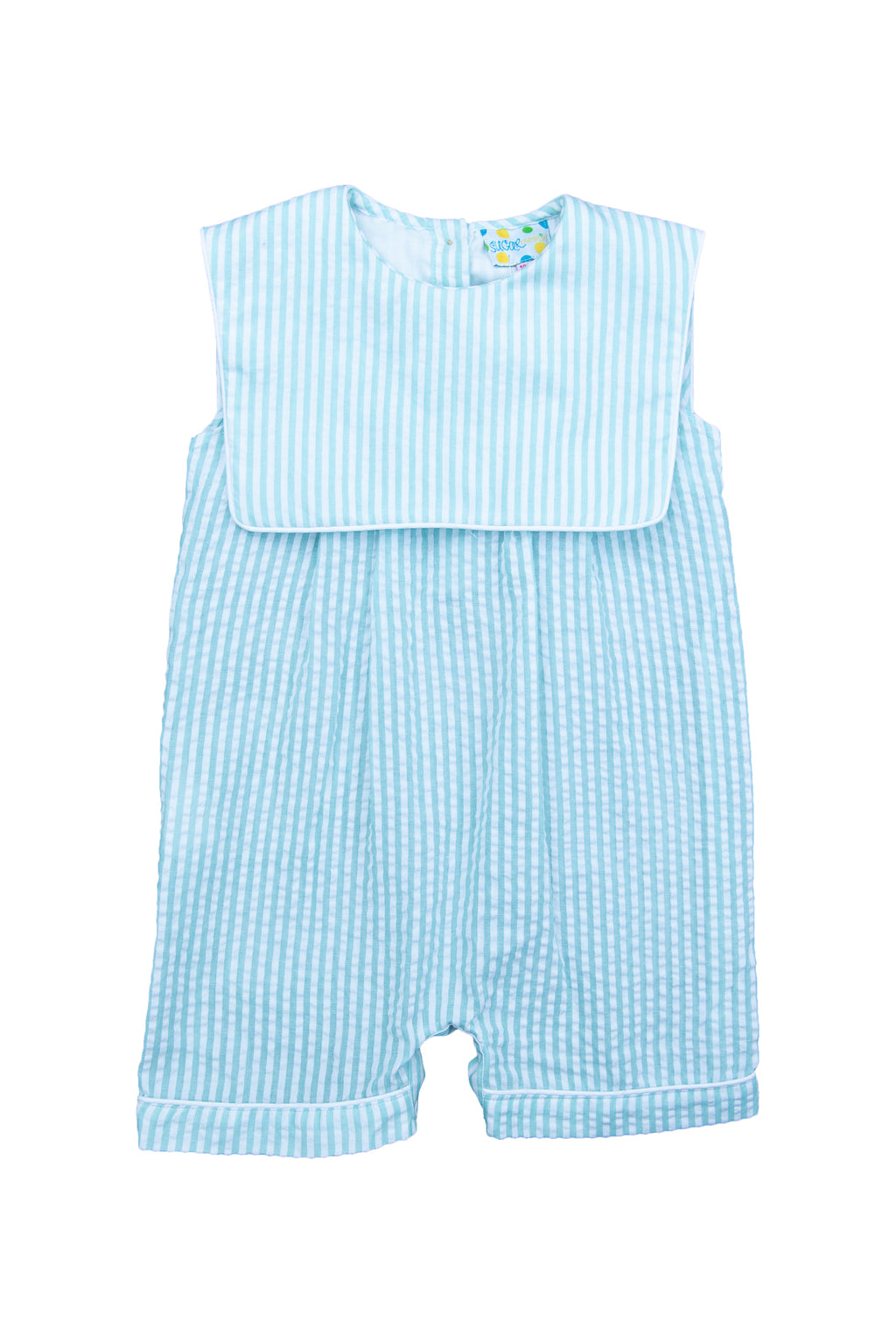 Boys Mint Seersucker Romper