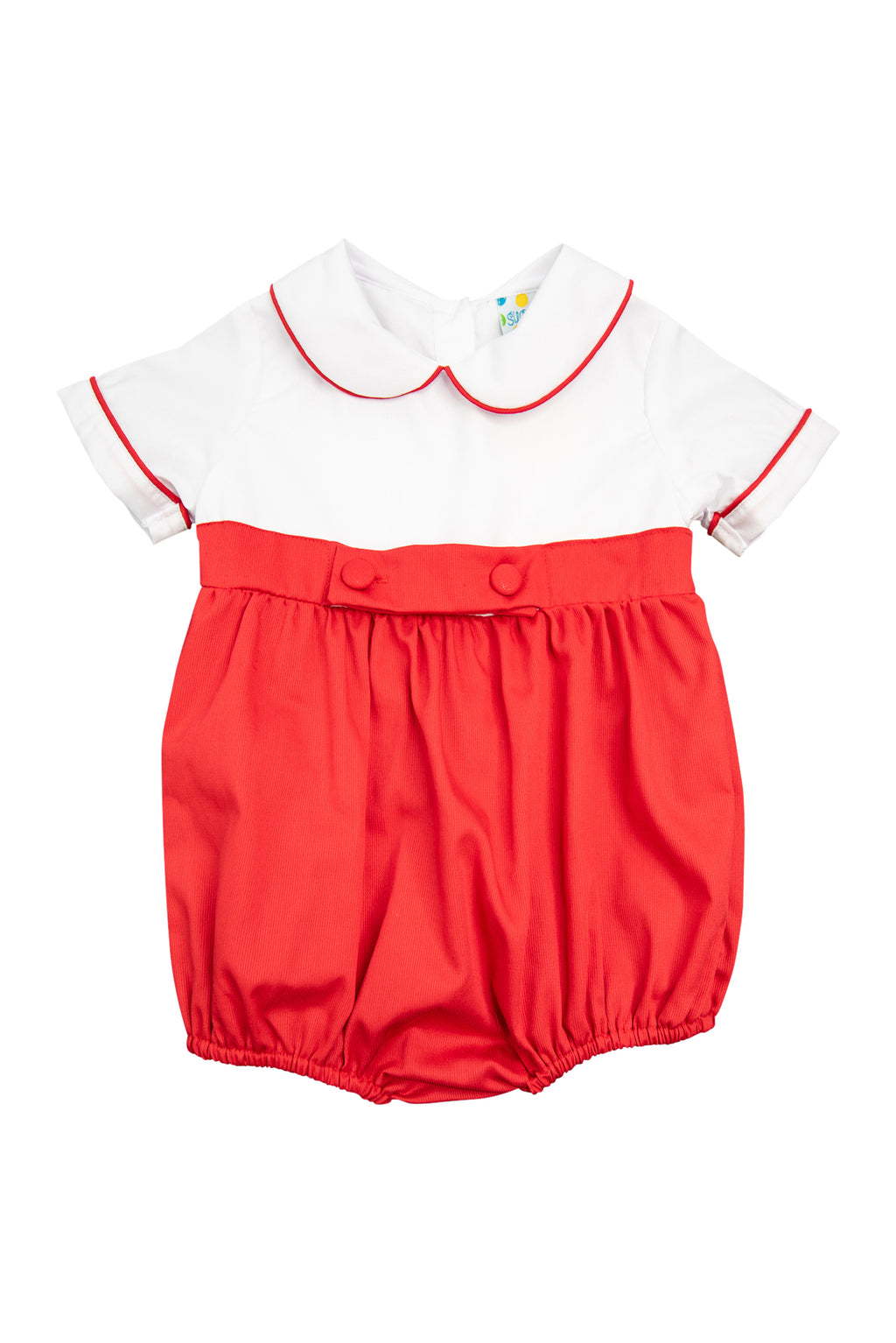 Boys White/Red Bubble