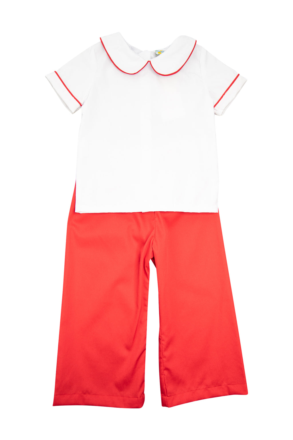 Boys White and Red Pant Set