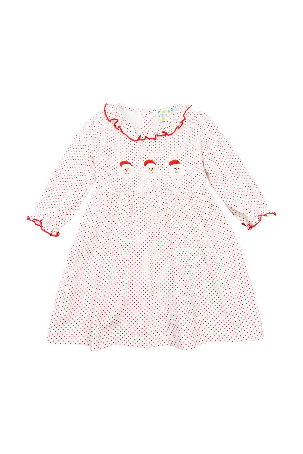 Girls French Knot Santa Dress