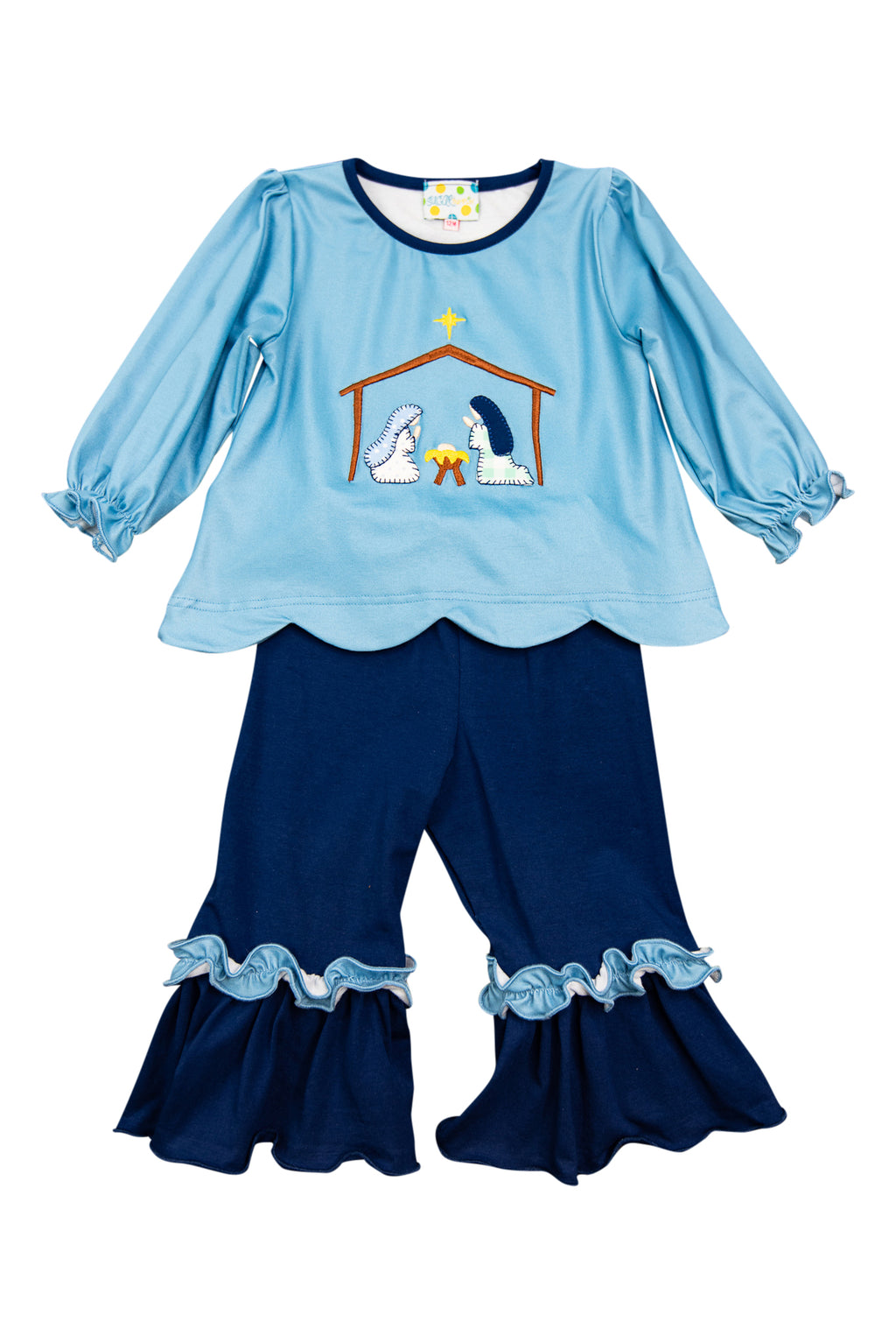 Girls Nativity Pant Set