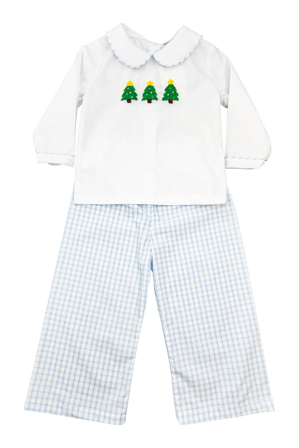 Boys French Knot Christmas Tree Pant Set