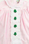 Girls French Knot Christmas Tree Bloomer Set