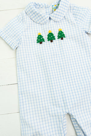 Boys French Knot Christmas Tree Long Bubble