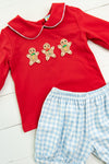 Boys Crocheted Gingerbread Banded Shorts Set
