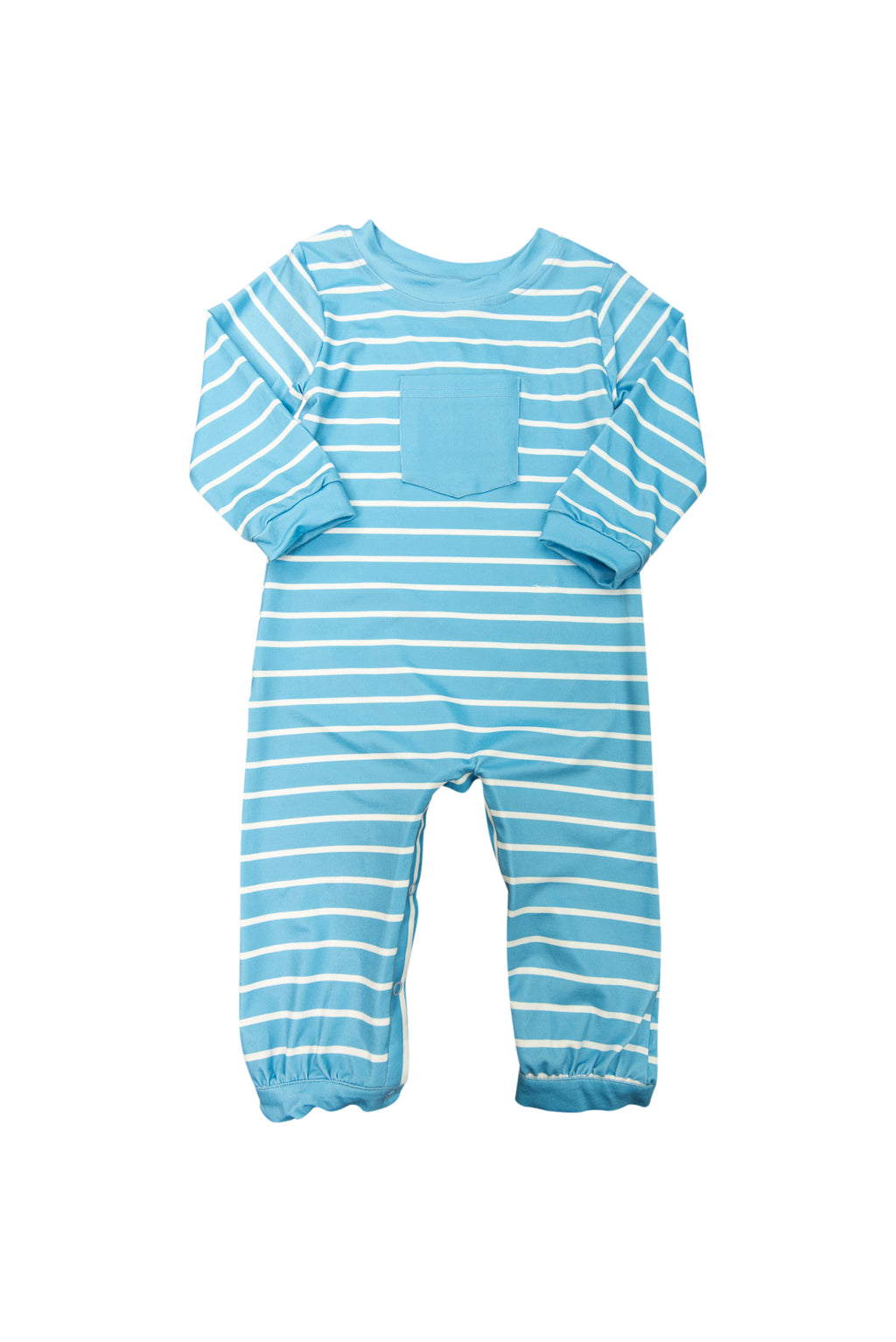 Boys Blue Stripes Romper