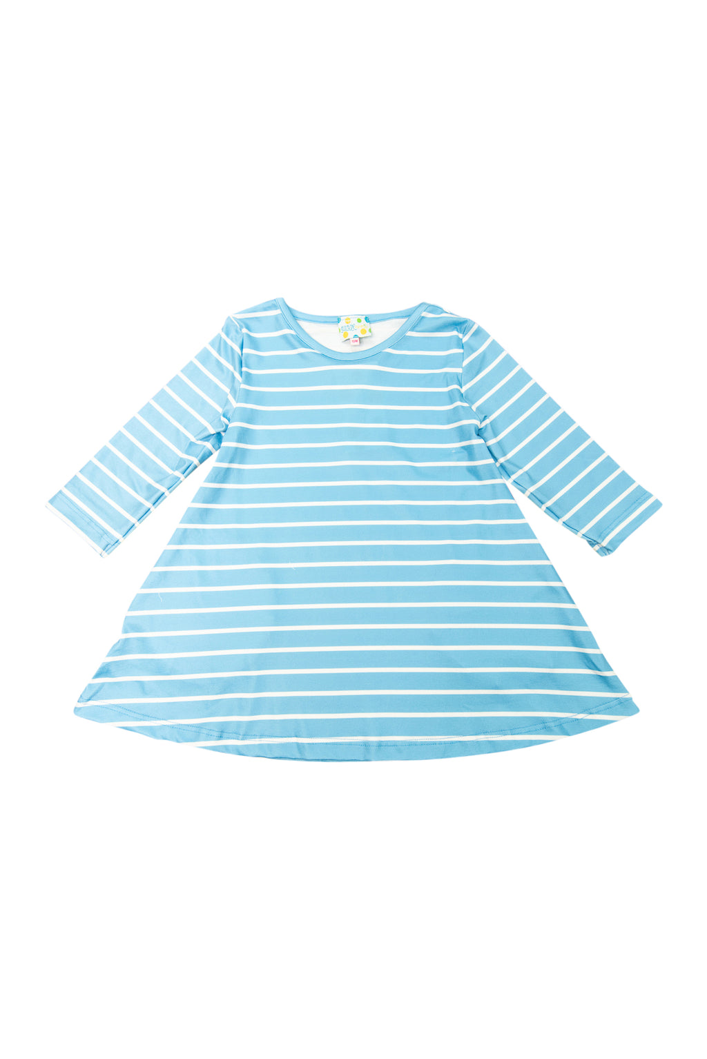 Girls Blue Stripes Dress