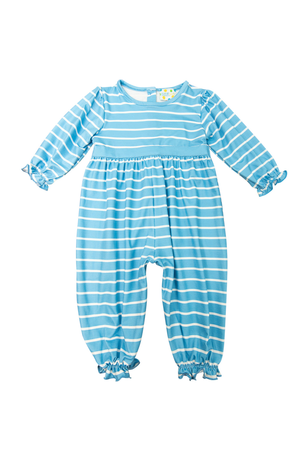 Girls Blue Stripes Romper