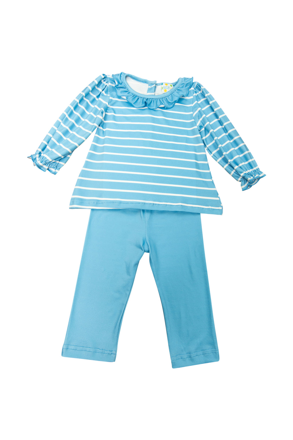 Girls Blue Stripes Pants Set