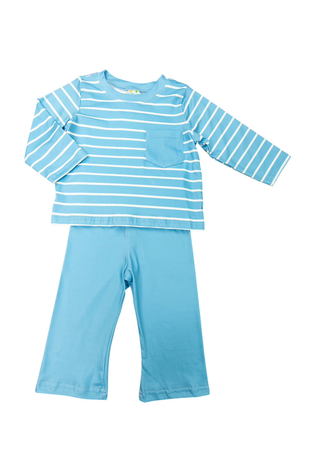 Boys Blue Stripes Pants Set