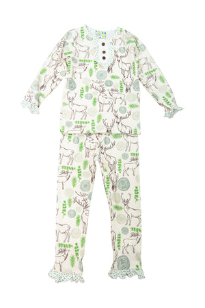 Girls Deer PJ Pant Set