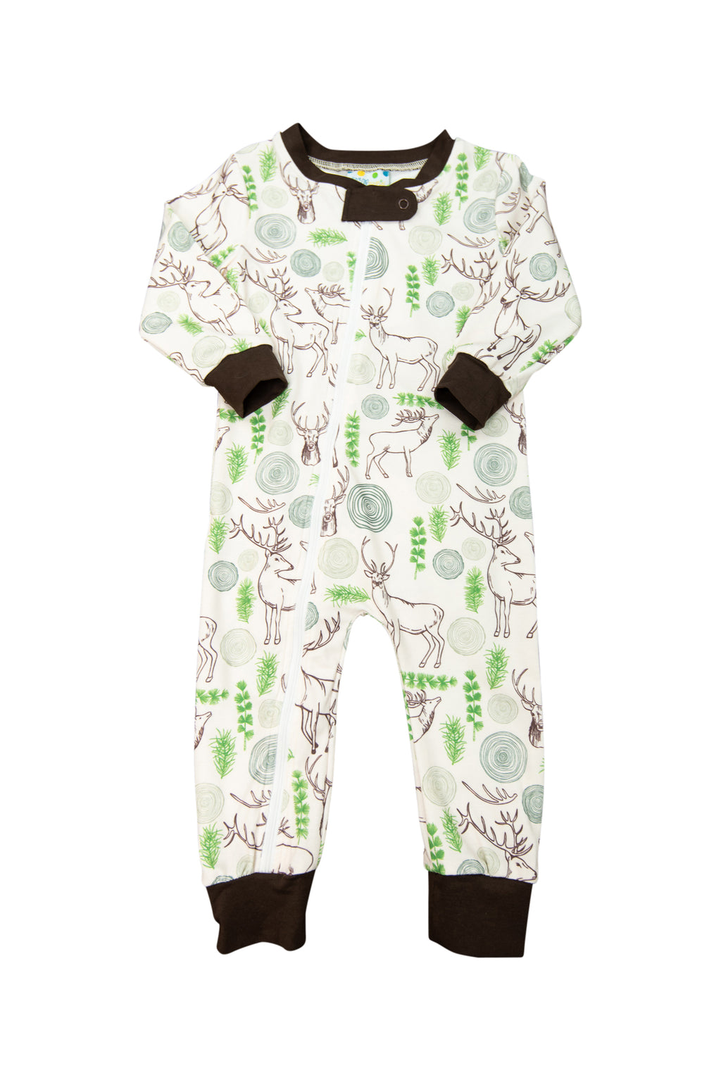 Boys Deer Zip Up Flap PJ