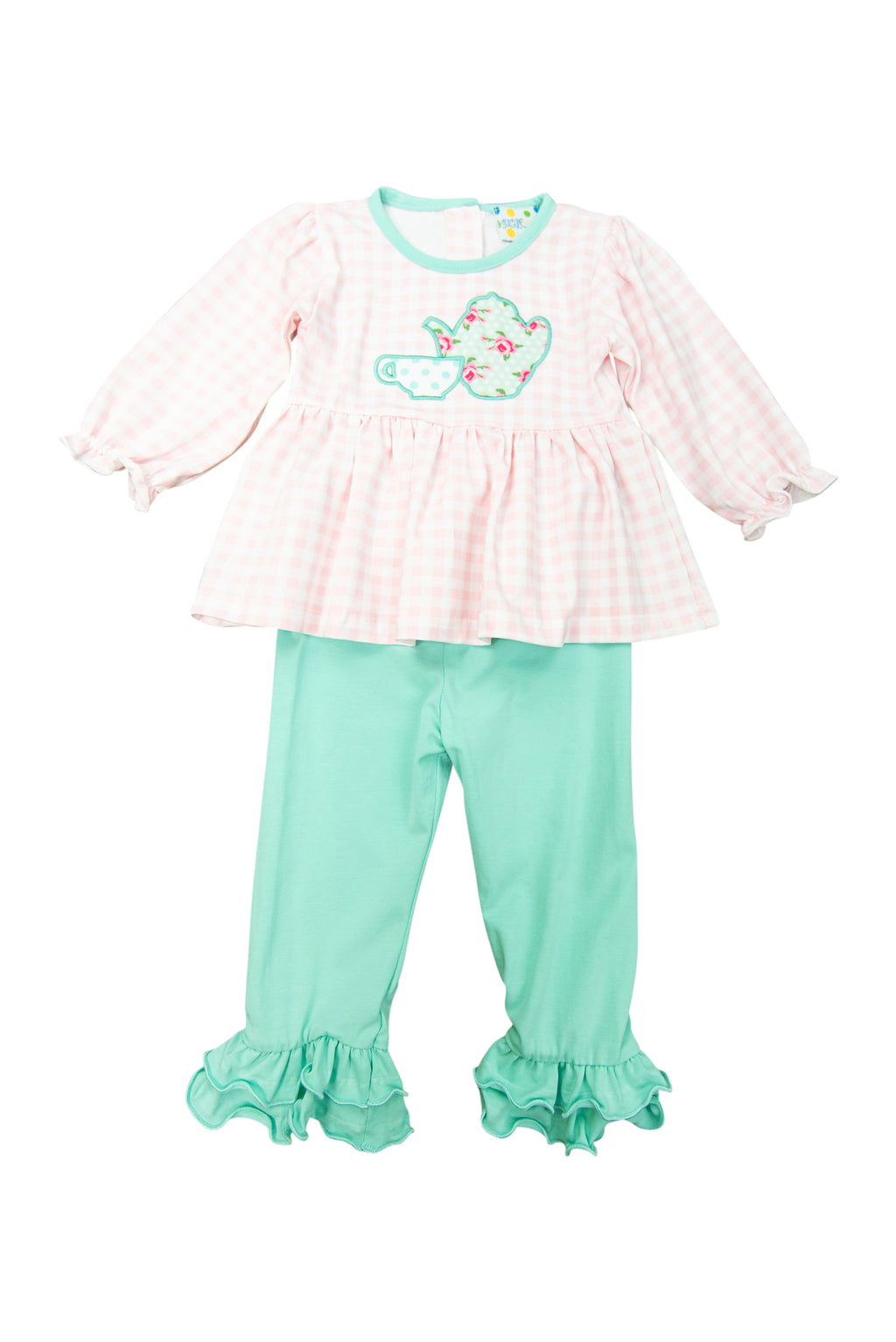 Girls Tea Party Pants Set