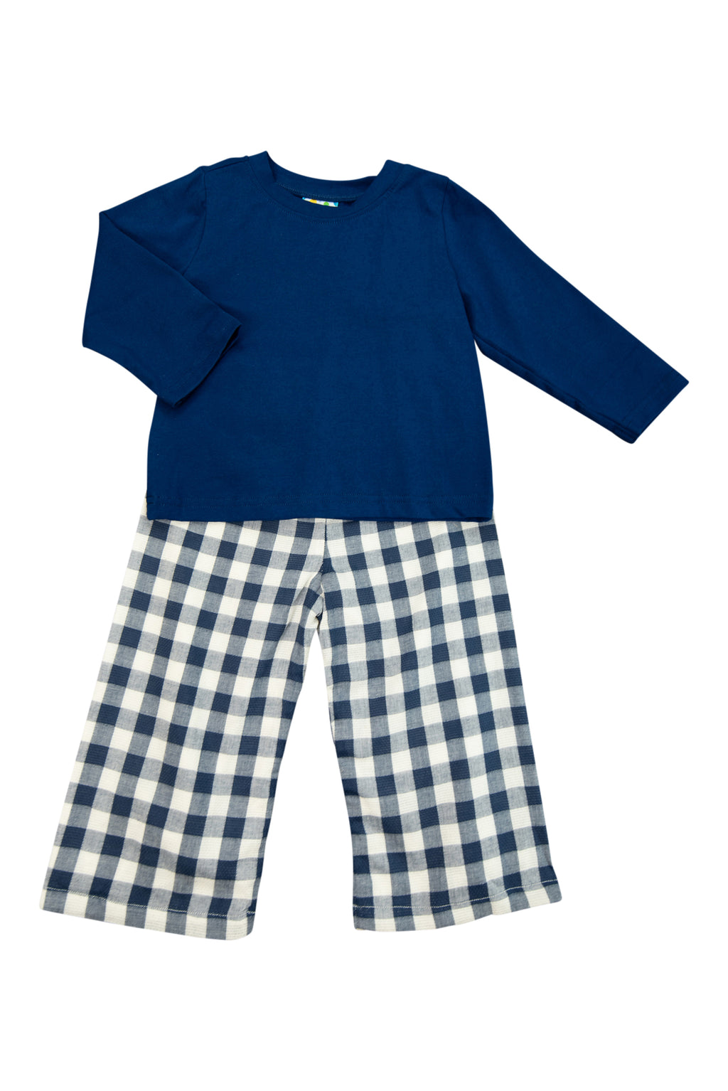 Boys Navy Linen Pants Set