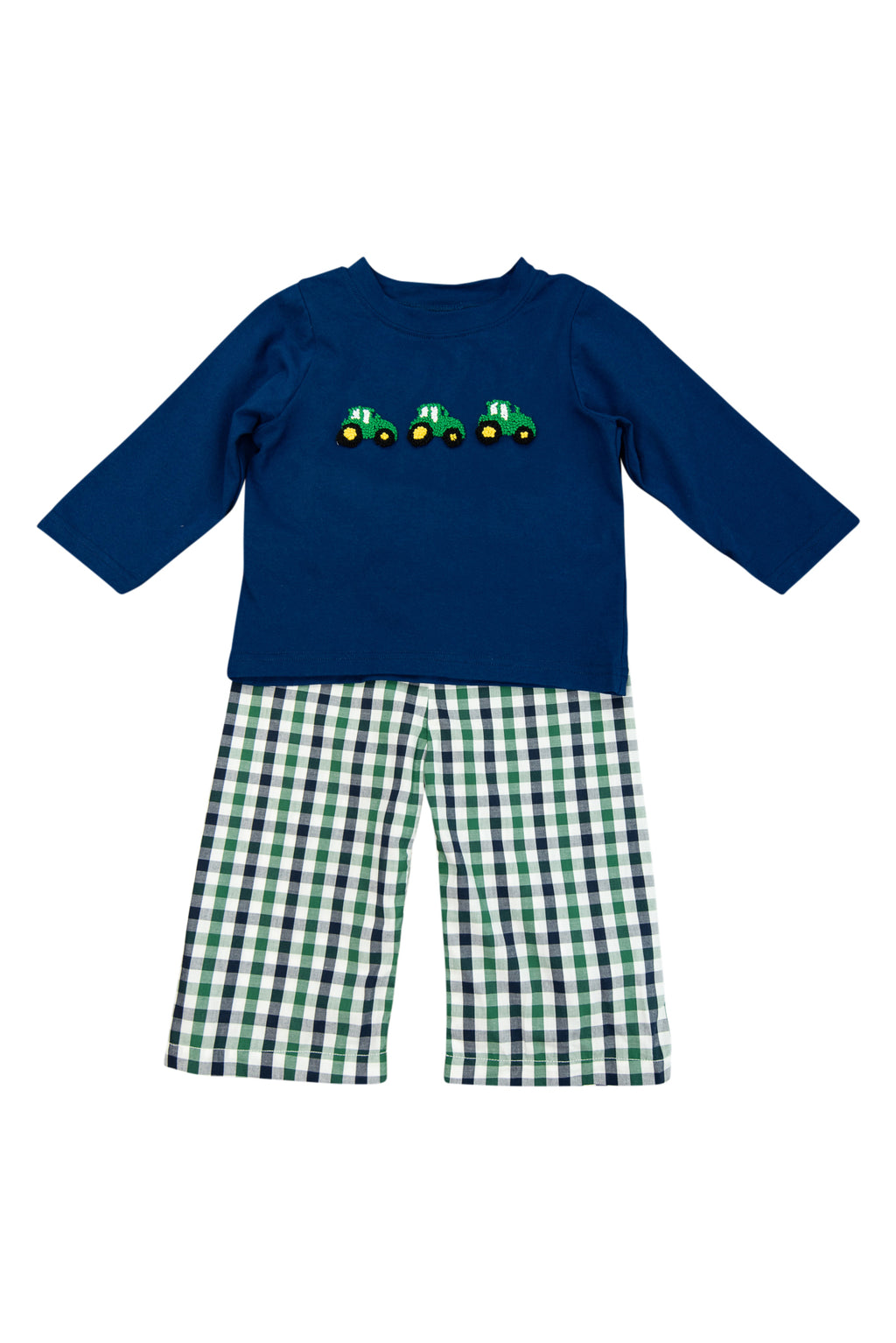 Boys French Knot Tractor Pant Set