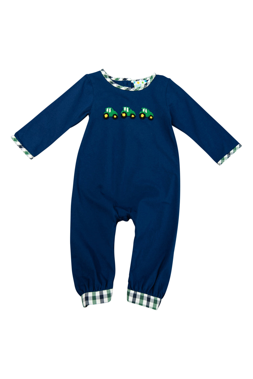 Boys French Knot Tractor Romper