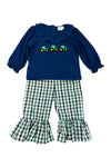 Girls French Knot Tractor Pant Set