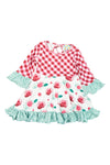 Girls Winter Floral Twirl Dress