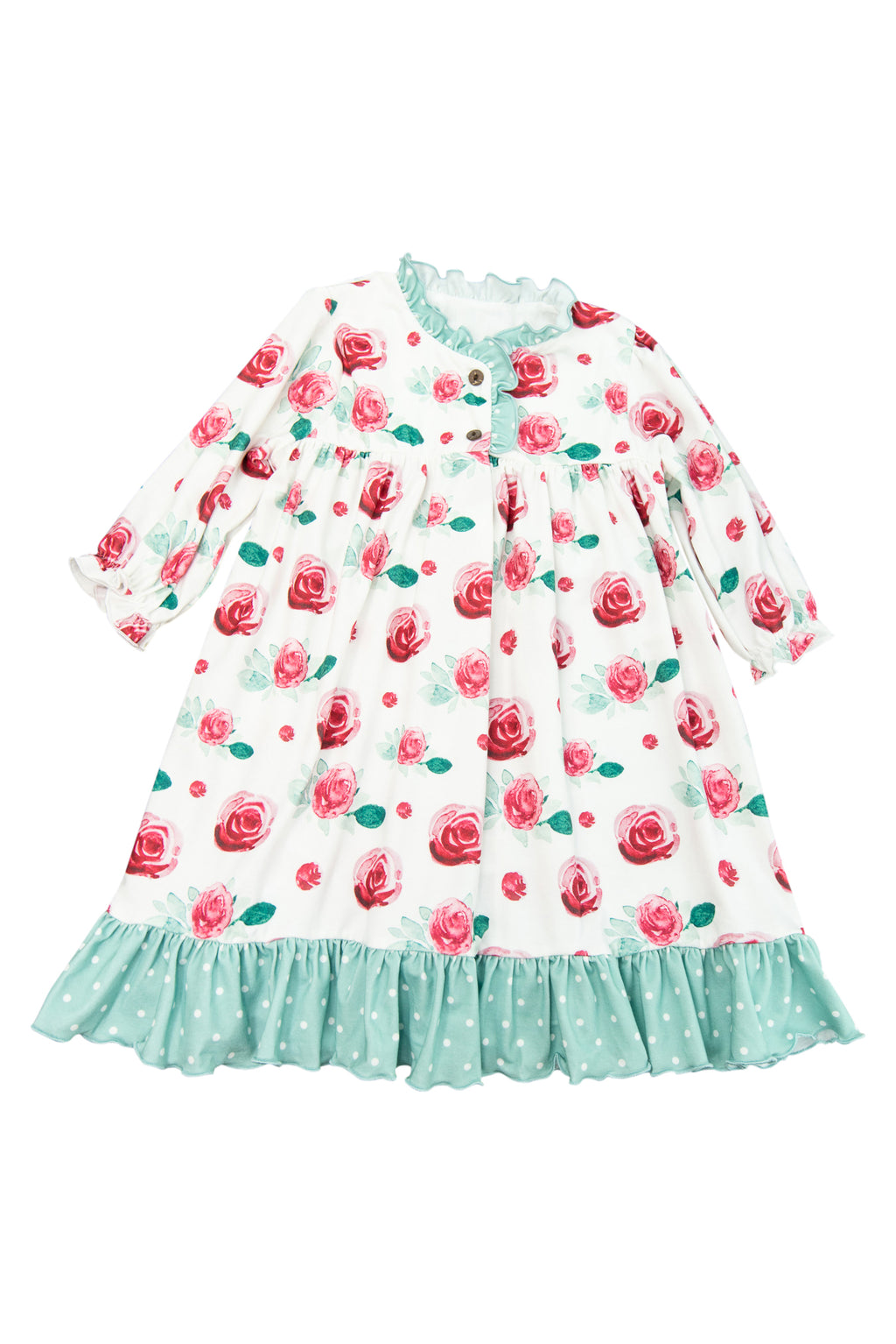 Girls Winter Floral Nightgown