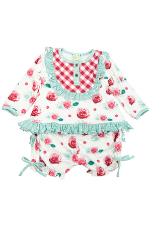 Girls Ruffle Top/Bloomer Lounge Set