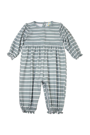 Girls Sage Stripes Romper